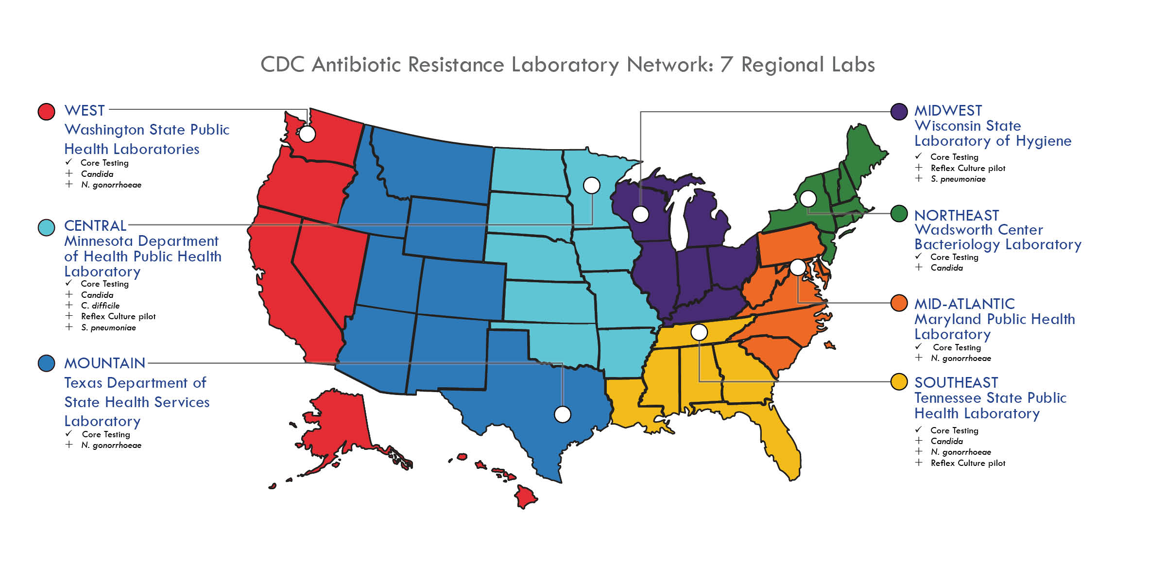 ARLAB Map Courtesy of the CDC