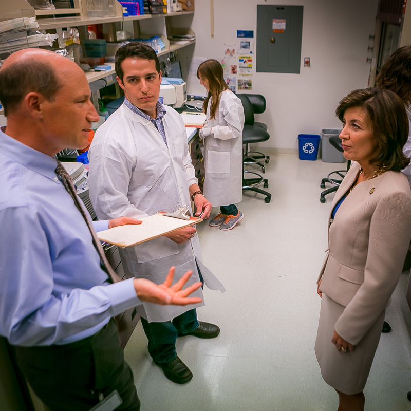Lt. Governor Hochul's tour of Wadsworth Center.