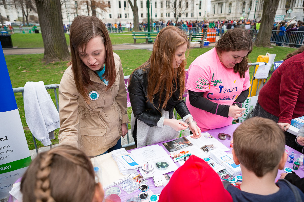 Masters of Laboratory Science students exhibit interactive public health activities during the Albany March for Science