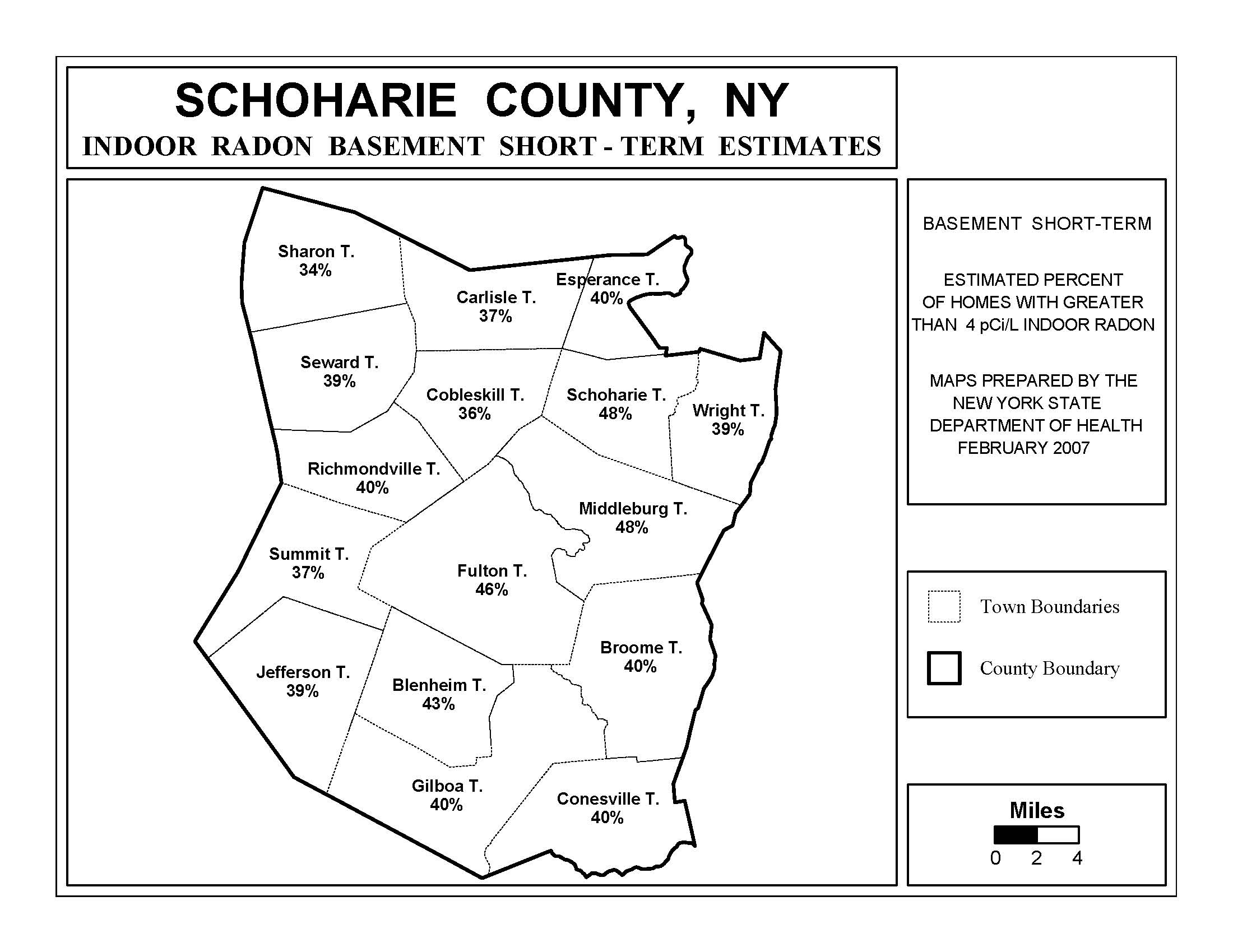 Blank New York State Map.Radon New York State Department Of Health Wadsworth Center