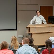 Dr. Matthew Kohn, REU Program Director at the 2017 Open House